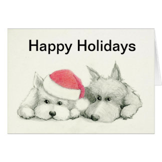 Scottie / Westie Christmas Card