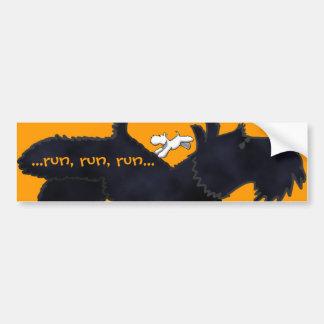 Scottie/Westie Run Bumper Sticker