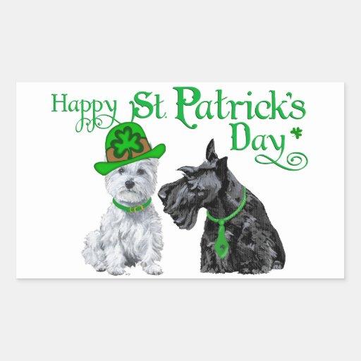 Scottie & Westie St. Paddy's Day Sticker