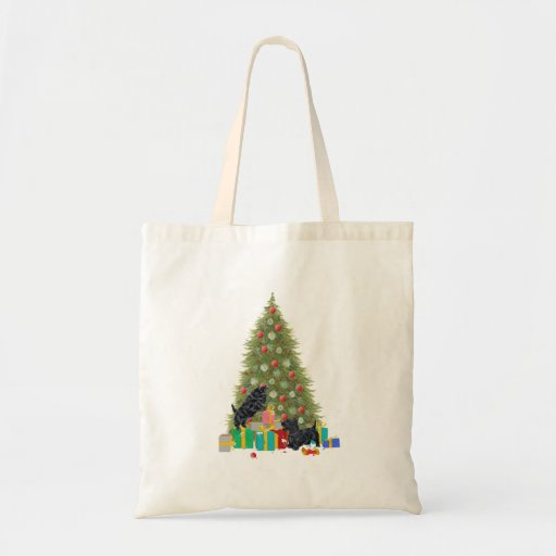 Scotties Sort the Christmas Gifts Canvas Bags