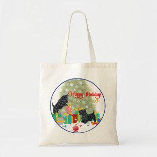 Scotties Sort the Christmas Gifts Budget Tote Bag