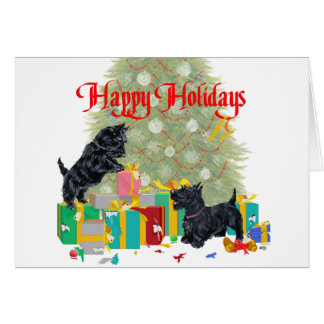 Scotties Sort the Christmas Gifts Card