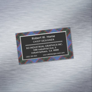 Scottish Accent Clan Home Hume Tartan Magnetic Business Card