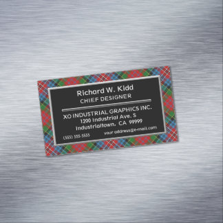 Scottish Accent Clan Kidd Tartan Magnetic Business Card