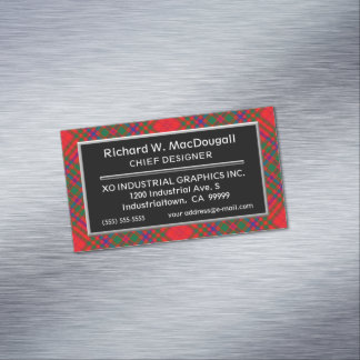Scottish Accent Clan MacDougall Tartan Magnetic Business Card