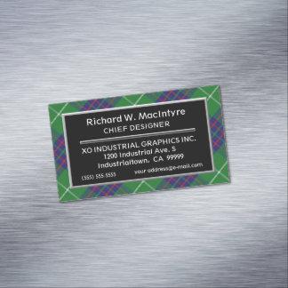 Scottish Accent Clan MacIntyre Tartan Magnetic Business Card