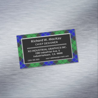 Scottish Accent Clan MacKay Tartan Magnetic Business Card