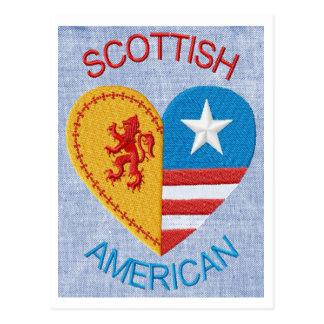 Scottish American postcard