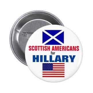 Scottish Americans for Hillary 2016 6 Cm Round Badge