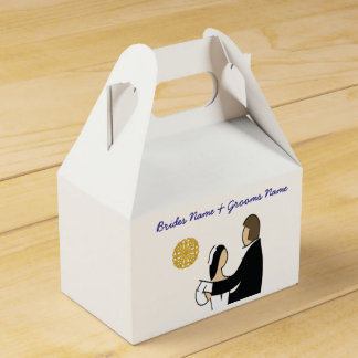 Scottish and Celtic Couple Wedding Theme Favour Box