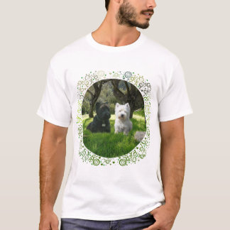 Scottish and West Highland Terriers Greenwood T-Shirt