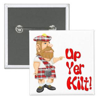 Scottish Attitude 15 Cm Square Badge