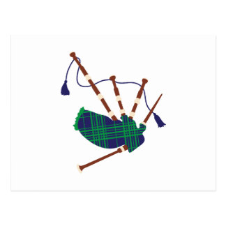 Scottish Bagpipes Postcard