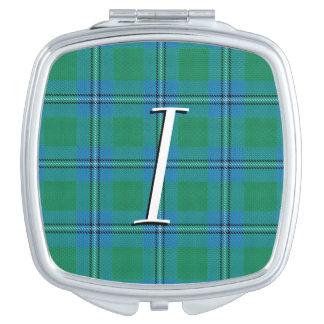 Scottish Beauty Clan Irvine Irwin Tartan Plaid Compact Mirror