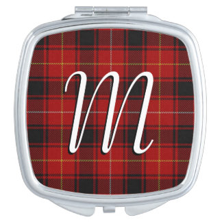 Scottish Beauty Clan MacIver Tartan Plaid Compact Mirrors