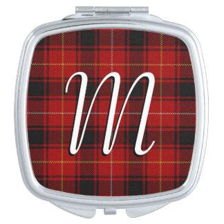 Scottish Beauty Clan MacIver Tartan Plaid Makeup Mirror
