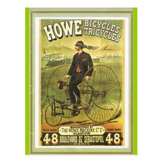 Scottish bicycles on sale in Paris Postcard