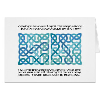 Scottish Blessing Calligraphy with Celtic Knots Card