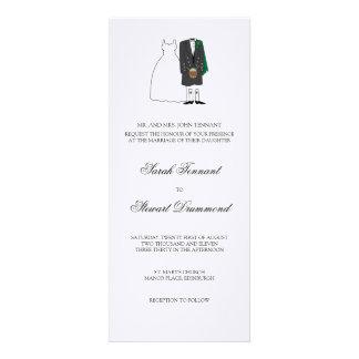Scottish Bride and Groom Wedding Invitation - slim
