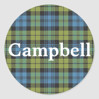 Scottish Campbell Family Tartan Plaid Classic Round Sticker