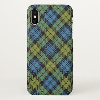 Scottish Campbell Family Tartan Plaid iPhone X Case
