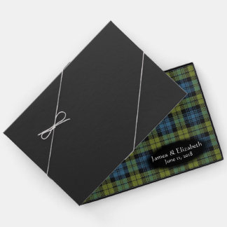Scottish Campbell Family Tartan Plaid Wedding Guest Book