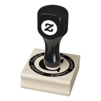 Scottish Campbell Letter C Monogram Rubber Stamp