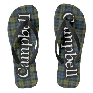 Scottish Campbell Tartan Flop Flops Thongs