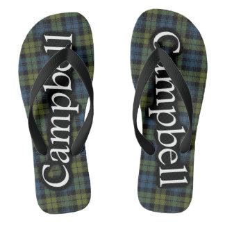Scottish Campbell Tartan Flop Flops Thongs