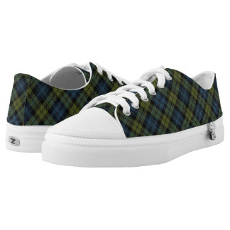 Scottish Campbell Tartan Low Tops