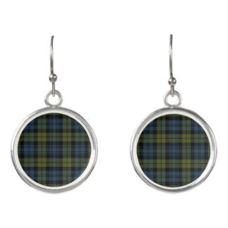 Scottish Campbell Tartan Plaid Earrings