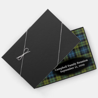 Scottish Campbell Tartan Plaid Family Reunion Guest Book
