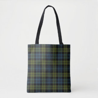 Scottish Campbell Tartan Plaid Tote Bag