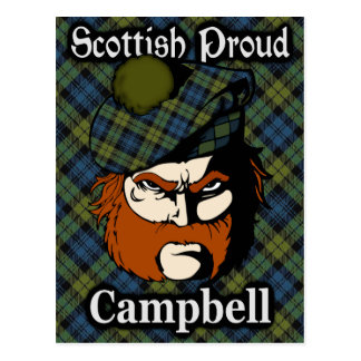 Scottish Campbell Tartan Postcard