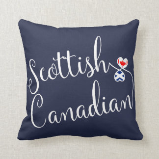 Scottish Canadian Entwined Hearts Throw Cushion