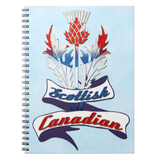 Scottish Canadian Thistle Notepad Notebooks