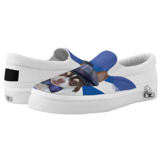 Scottish chihuahua dog zips shoes printed shoes