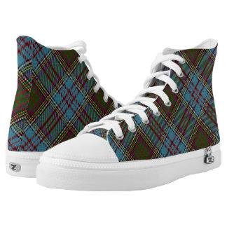 Scottish Clan Anderson Tartan High Tops