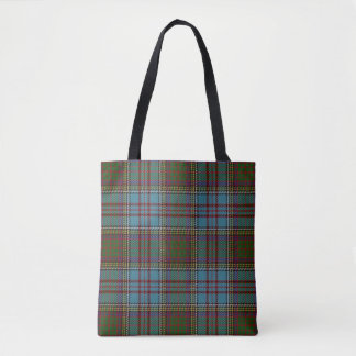 Scottish Clan Anderson Tartan Plaid Tote Bag