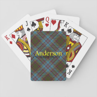 Scottish Clan Anderson Tartan Playing Cards