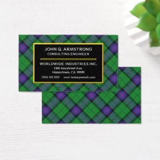 Scottish Clan Armstrong Tartan Plaid Business Card