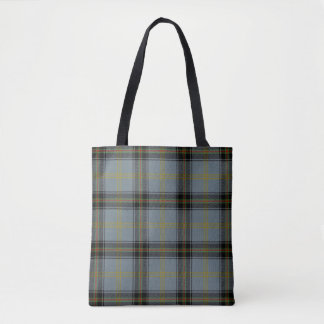 Scottish Clan Bell of the Borders Tartan Plaid Tote Bag