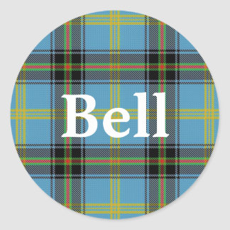 Scottish Clan Bell Tartan Plaid Classic Round Sticker