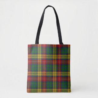Scottish Clan Buchanan Tartan Plaid Tote Bag