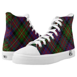 Scottish Clan Carnegie Tartan High Tops