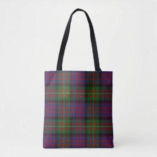 Scottish Clan Carnegie Tartan Plaid Tote Bag
