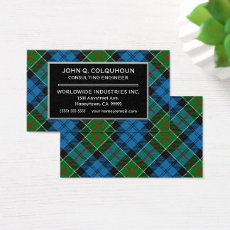 Scottish Clan Colquhoun Tartan Plaid Business Card