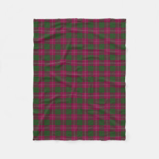 Scottish Clan Crawford Classic Tartan Fleece Blanket
