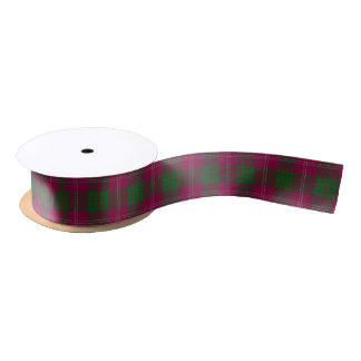Scottish Clan Crawford Classic Tartan Satin Ribbon