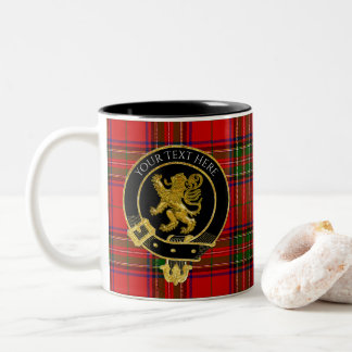 Scottish Clan Crest Lion Tartan Two-Tone Coffee Mug